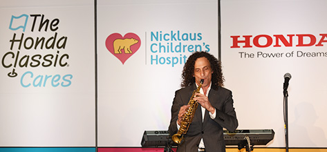 Jazz Legend Kenny G Provides Private Concert at Nicklaus Children's